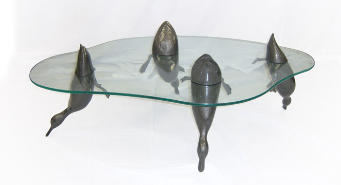 Duck Table - Glass Top Coffee Table